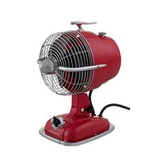 Fanimation Urbanjet Spicy Red Table Fan ($160) ❤ liked on Polyvore featuring home, home decor, fans and standing fans