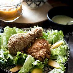 60.Pollo fritto con chutney al mango e salsa allo yogurt  di Lara