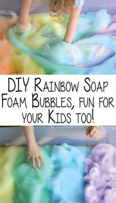 DIY Rainbow Soap Foam Bubbles, fun for your Kids too! DIY Rainbow Soap Foam Bubbles, fun for your Kids too! ~ Effective Weight Loss Tips for a Trimmed Physique, Bubble Activities, Toddler Learning Activities, Infant Activities, Science Activities, Educational Activities, Kids Learning, Kid Science, Bubble Fun, Baby Sensory
