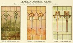 Leaded Glass from International Art Glass Catalogue by National Ornamental Glass Manufacturers Association of the United States and Canada, published in Stained Glass Church, Stained Glass Quilt, Stained Glass Designs, Stained Glass Panels, Stained Glass Patterns, Leaded Glass, Art Nouveau, Art And Craft Design, Shattered Glass