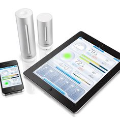 Weather stations that connect to your smartphone/tablet. One outside, one inside. They monitor air quality, temperature, humidity, etc. and provide suggestions on changes you could make to your environment to improve air quality. Legit.