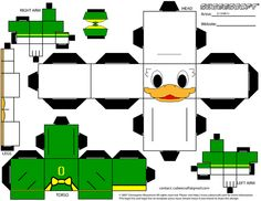 Oregon Duck Cubee by jccondray on DeviantArt Crafts For Kids, Arts And Crafts, Paper Crafts, Quack Quack, Craft Projects, Craft Ideas, Graduation Parties, Oregon Ducks, Arts And Entertainment