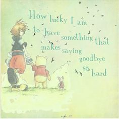 Yesterday my sister was playing kingdom hearts and she was playing kingdom hearts Well anyway long story short there was a cutscene where Pooh didnt want Sora to leave and i was like 😢 but at the same time happy because its so sweet😊 Kingdom Hearts 3, Kingdom Hearts Quotes, Kingdom Hearts Tattoo, Video Game Quotes, Video Games, Kh 3, Thing 1, Pooh Bear, Heart Quotes