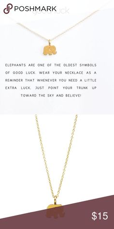 🎁 Perfect Gift! 🎁 Good Luck Necklace Precious elephant necklace for your sweet friend, who just needs a pick me up. Perfect Christmas, or anytime gift. 🐘 Boutique Jewelry Necklaces