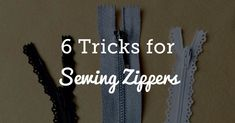 Learn how to sew a zipper with these 6 helpful tips. Sewing in a zipper will be easy on your next sewing project.