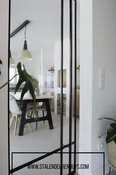 Home Room Design, Home Interior Design, House Design, Glass Partition Wall, Glass Room Divider, Aluminium Doors, Hippie Home Decor, Room Doors, Plywood Furniture
