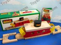 BRIO 33661 Ferry Classic Wooden Railway Car Transport Boat