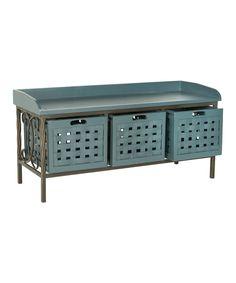 Love this Navy Gulliver Storage Bench by Safavieh on #zulily! #zulilyfinds