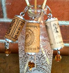 Wine Cork Keychains~Cute and Simple