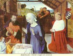 Jean Hey. The Nativity of Cardinal Jean Rolin.