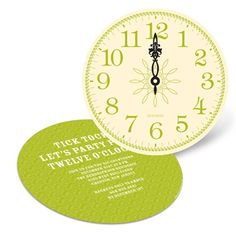New Years Cards Tick Tock