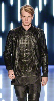 BOYD Black Leather Bomber by Mackage
