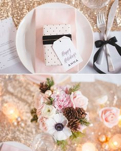 A lovely, girls Xmas table setting with free printables | Best Day Ever