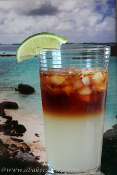 Dark 'N Stormy: A Bermuda Cocktail - My husband's new favorite since returning from Bermuda last week!!!