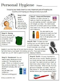 Worksheet Hygiene Worksheets For Elementary Students health worksheets and kid on pinterest life skills personal hygiene comes with additional worksheet