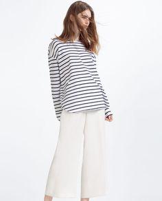 OVERSIZE T-SHIRT-Long sleeve-T-SHIRTS-WOMAN | ZARA United States