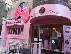 Hello Kitty Cafe, Seoul--how did I miss this? Gotta go one day