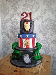 Marvel Avengers birthday cake - cake by Jo Avengers Birthday Cakes, Hulk Birthday Parties, 30 Birthday Cake, Marvel Cake, Marvel Avengers, Hulk Cakes, Dummy Cake, Avenger Cake, Superhero Cake