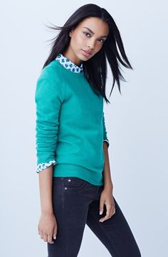 Halogen® Cashmere Sweater, Caslon® Blouse & KUT from the Kloth Corduroy Pants  available at #Nordstrom