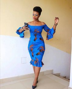 Most stylish collection of ankara short gown styles of 2019 trending today, try these short ankara gown styles Latest Ankara Short Gown, Short African Dresses, Ankara Short Gown Styles, Short Gowns, African Print Dresses, Ankara Styles For Kids, Unique Ankara Styles, African Skirt, African Lace