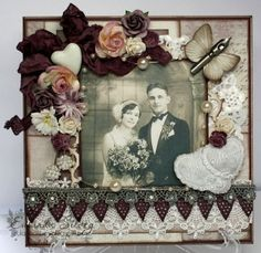 Card created by LLC DT Member Eulanda Silvery, using papers from Pion Design's Studio of Memories collection and an image from Crafts & Me.