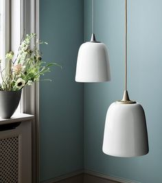The Fritz Hansen Dogu Pendant Light is a bone china suspension lamp which comes with either a silver or gold cap. Buy From Utility Design today Fritz Hansen, Lamp Design, Lighting Design, Helsinki Design, Lamp Light, Light Up, Nordic Living, Design Blog, Light Project