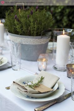 Love the beautiful simplicity of Garden Party table Wedding Table, Rustic Wedding, Garden Wedding, Wedding Ideas, I Wont Give Up, Beautiful Table Settings, Al Fresco Dining, Decoration Table, House And Home Magazine