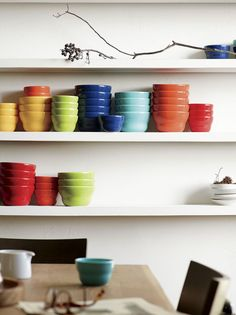 With gorgeous color, a high-gloss finish and gently tapered, tiered design, this versatile earthenware bowl serves up snacks or ice cream with a generous helping of charm. Coordinating with matching bowls in green, aqua, coral, red and yellow in two sizes.