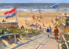 Beach Scenes, Land Art, Beach Art, Landscape Paintings, Amsterdam, Watercolor, Sea, Beaches, Google