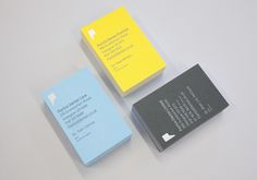 Logo and business cards with yellow, blue and grey board detail designed by Freytag Anderson for Partick Dental featured on BP&O