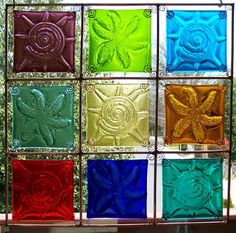 Shell tile window-Connie Ballato Excellent example of kiln-carving!