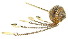 The Best Beauty Rare Asian Thai Original Brass Gold Crystal Barrette Women Costume from Thailand >>> This is an Amazon Affiliate link. Want to know more, click on the image.
