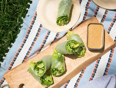 We love eating leafy greens with every meal, but figuring out how to pack them can be a major pain. Our solution? Roll butter lettuce, cucumber, avocado, and tons of fresh herbs in rice paper wrappers and serve with a tangy peanut sauce for dipping—all the nutrition of a green salad with none of the mess.