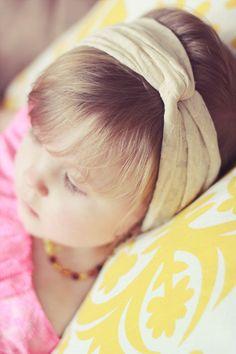 Baby Headband - Turband - Ivory Headband - Twist Boho Hippie - Turban Headband. $10.00, via Etsy.