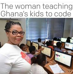 The woman teaching Ghana's children to code
