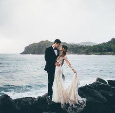 Gorgeous wedding photo on the beach! Wedding photography | bride and groom | beach wedding