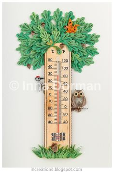 Inna's Creations: Room thermometers with paper quilling