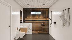 Sauna visualization / Wizualizacja sauny.