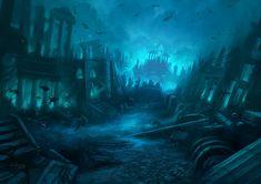 Atlantis, the legendary underwater city.