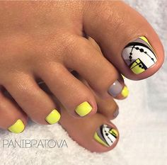 Super Ideas For Pedicure Designs Nailart Toe Pretty Toe Nails, Cute Toe Nails, Fancy Nails, Love Nails, My Nails, Toenail Art Designs, Pedicure Designs, Pedicure Nail Art, Toe Nail Art