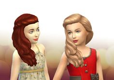 The Sims 4 | My Stuff: SP05 Movie Hangout Stuff Long Braid Curled Hairstyle Converted for Girls | hairs for female child