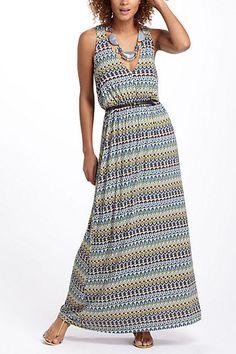 Sky Trails Maxi Dress #anthropologie