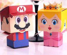 100 pcs Super Mario Candy Box Wedding Party Favor lovely Cute Cartoon Gift Boxes