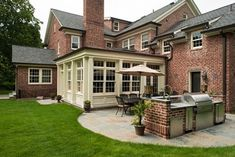 Classic Scarsdale Brick Colonial - traditional - exterior - new york - Fivecat Studio | Architecture *Almost exactly the color I wanted for the trim/posts/facia