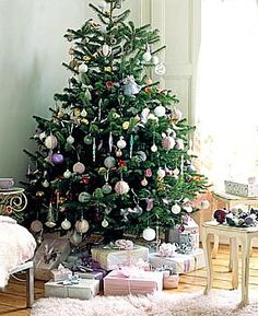 Pretty tree and room with presents  ~Brabourne Farm