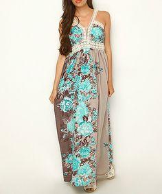 Love this Mink & Blue Floral Maxi Dress by Scarlett on #zulily! #zulilyfinds. Only $ 39.99
