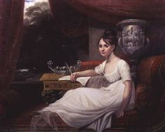 Portrait of Eleanor Anne Porden, on a chaise-longue, by Mary Ann Flaxman (1768 - 1833)