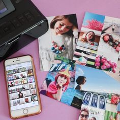 Get your photos off your phone and print them out easily with a small portable photo printer.