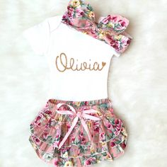 Baby Girl Clothes, Baby Girl Outfit, Personalized Onesie, Coming Home Outfit, baby girl onesie Name Onesie Baby Bloomers Take Home Outfit KennedyClairesCloset on Etsy Going Home Outfit, Girls Coming Home Outfit, Take Home Outfit, Baby Outfits, Cute Girl Outfits, Newborn Outfits, Baby Bloomers, Daddys Girl, Baby Girl Gifts