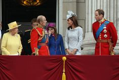 Queen Elizabeth II and Kate Middleton Photo - Trooping The Colour